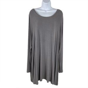 Logo Layers By Lori Goldstein Knit Top Ribbed Long